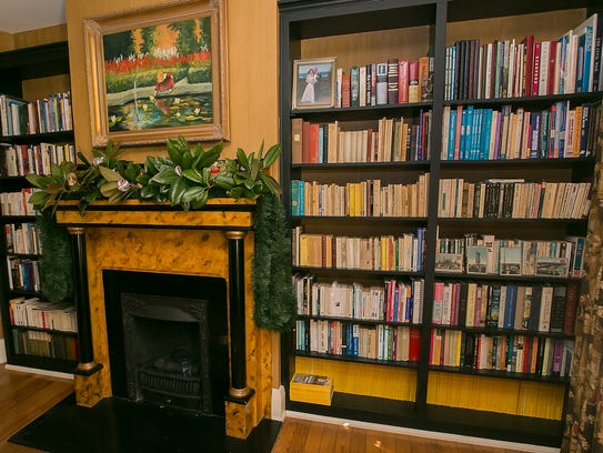 The upstairs study at the home of Junior and Laura