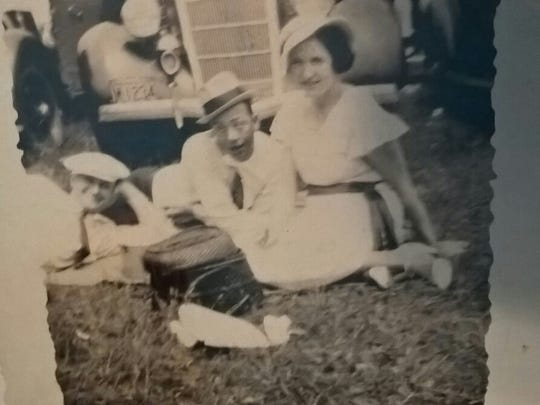 The Indy 500 is a huge part of my husband's family gatherings. The whole family gets together for qualifying, and my husband and I attend the race every year. Earlier this month his Grandma passed away, and we found an old photo album with this picture of his great grandpa at the Indy 500 in the 30's.