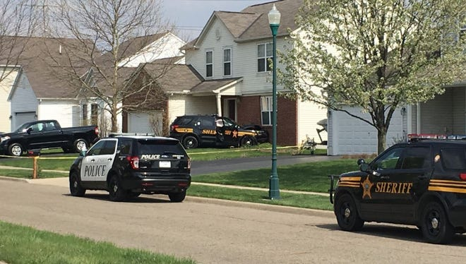 A Licking County cruiser hit a home in Reynoldsburg Wednesday afternoon.