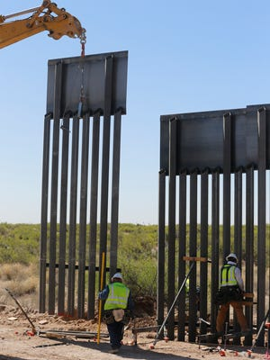 "Construction of a new $73 million bollard wall along a 20-mile portion of existing fence is being replaced along the U.S.-Mexico border in Santa Teresa, N.M. The construction of the ""president's border wall,"" began two weeks ago and construction is moving along swiftly and at a steady pace. Construction of the wall, which is to replace existing posts that serve as vehicle barriers in the area, is expected to be completed by March 2019. The wall will stand 18 feet to 30 feet tall in different areas, depending on the terrain. ""It is going help maintain a secure border. It is going to establish the operational control that the president has mandated,"" El Paso Sector Chief Aaron Hull stated two weeks ago when construction was officially announced."