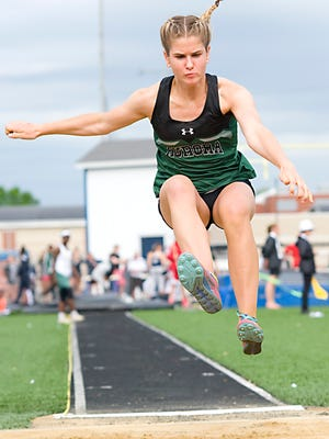 Having made state in the long jump as a freshman, Lauren Tincher will be counted on for years to come by the Greenmen.