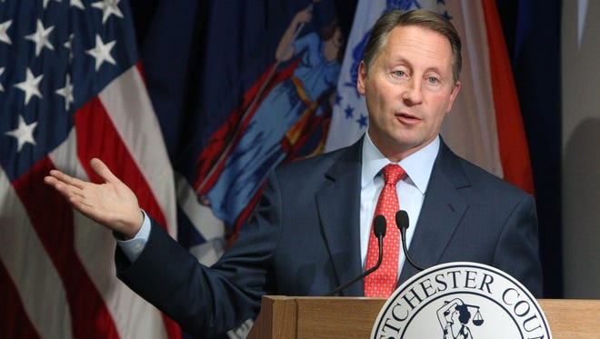 Westchester County Executive Rob Astorino presents details of his proposed budget on Nov. 10.