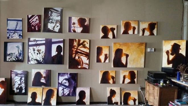 Todd Mrozinski's Shadow Series paintings will be on display during Gallery Night at The North End, 1511 N. Water St.