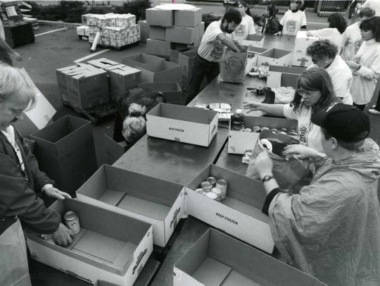 Food Drive - Hackensack 10/18/93 - Record Food Drive