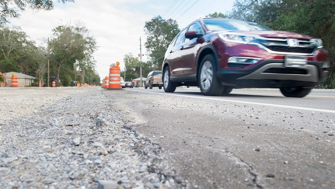 Construction continues along East Olive Road in Pensacola on Tuesday, February13, 2018.