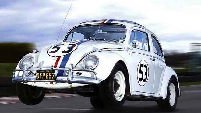 """One of the most iconic movie star cars is """"Herbie The Love Bug"""" from the surprise 1968 Hollywood hit. After many follow ups and TV shows, the No. 53 Volkswagen Beetle is still popular to this day with toys and merchandise still in high demand. Herbie even competed against the best NASCAR drivers along the way."""