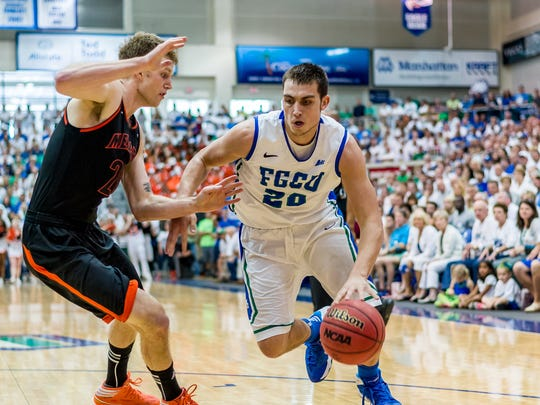 Forward Chase Fieler is the only Eagle who played for all three FGCU coaches -- Dave Balza, Andy Enfield and Joe Dooley. He was a cornerstone of the 2012-13 Sweet 16 team.