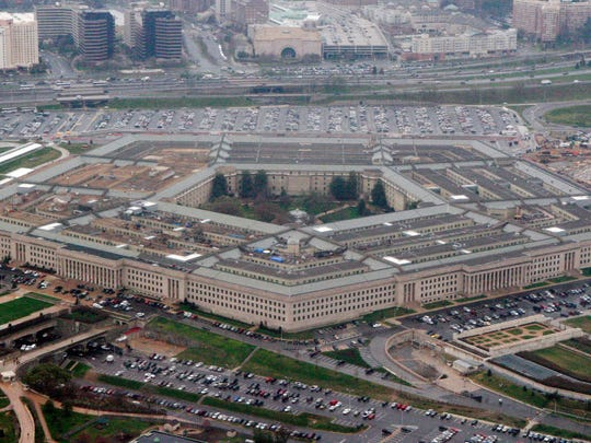 "The Pentagon in this aerial view in Washington. President Trump says he will bar transgender individuals from serving ""in any capacity"" in the armed forces."