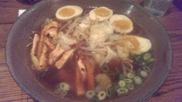 Grilled Chicken Ramen with extra eggs