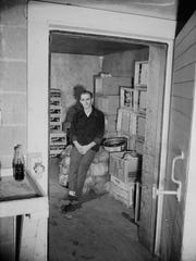 Roy Driver, in the freezer he was locked up in, 1954