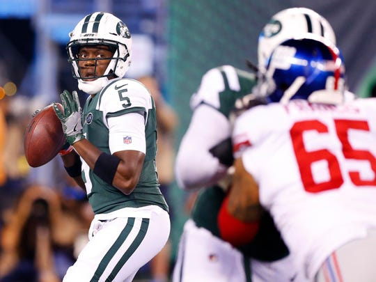 Teddy Bridgewater still has a shot at the Jets' starting QB role. (Noah K. Murray-USA TODAY Sports)