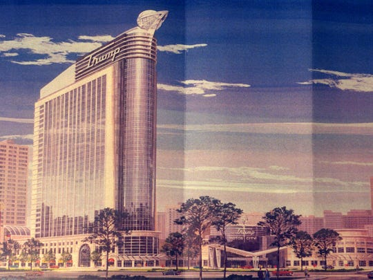 A rendering of what the Trump Casino proposed for Detroit in 1997 would look like on the exterior.