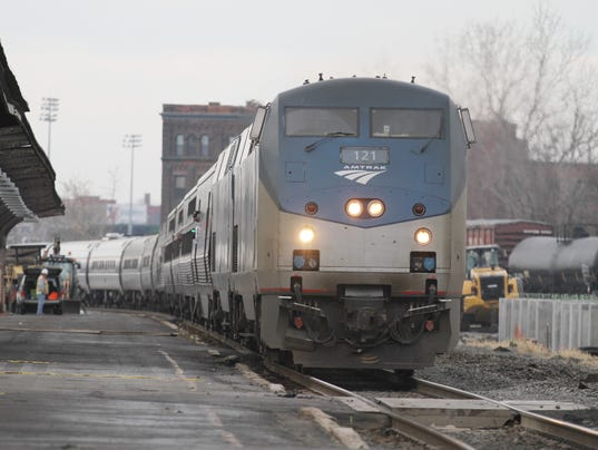 Amtrak pulling into Rochester