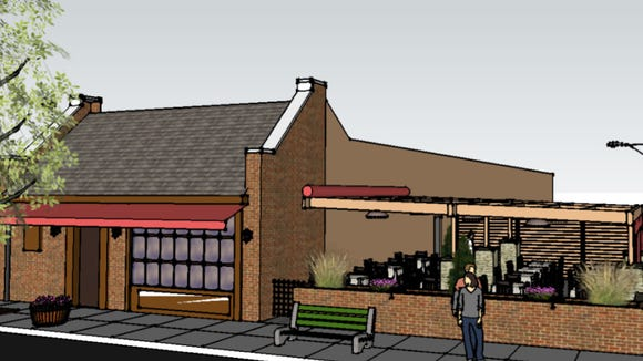 Sapori's new outdoor space will be near the borough's new fountain.