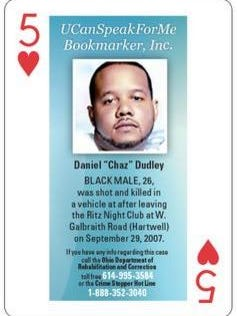 Flanked by family and friends of some of the county's unsolved homicide cases, Hamilton County Sheriff Jim Neil announced Thursday an initiative to sell new decks of playing cards to inmates from the Justice Center commissary. Each card features a photograph of a homicide victim whose case is unsolved, along with the corresponding identifying information.