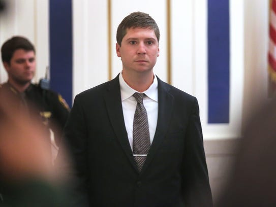 Ray Tensing enters court for the first time since his