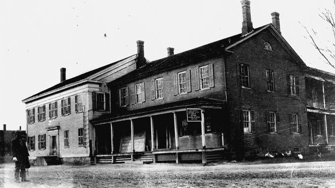 Lincoln Hall was built about 1820. It now houses the village offices.