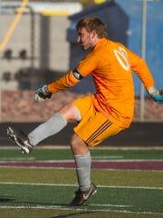 Desert Hills soccer plays against Dixie High School