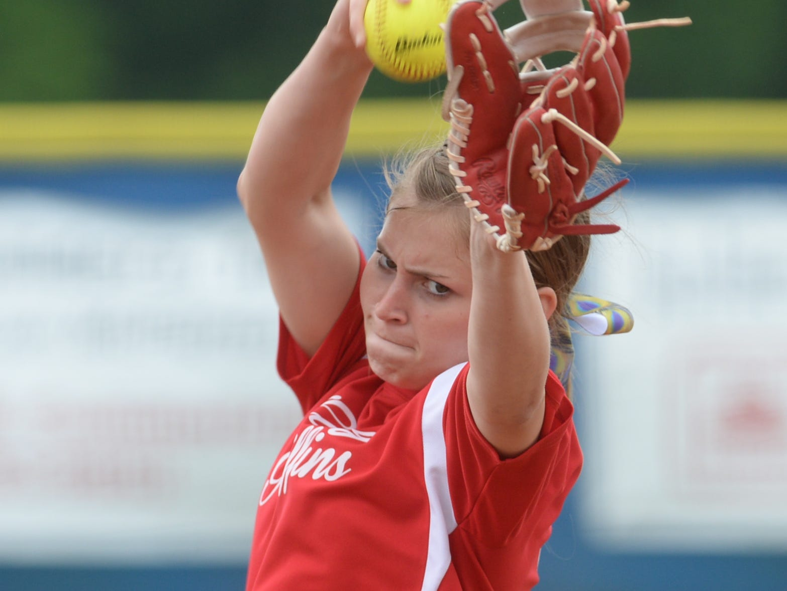 Emma Callie Delafield threw 11 strikeouts in the Griffins 10-0 win over Rayne.