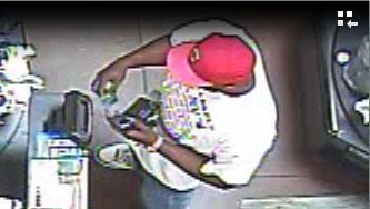 What appears to be a male subject, was caught on Walmart video surveillance using a stolen credit card.