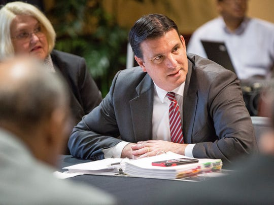 Ball State board of trustees Chairman Rick Hall at