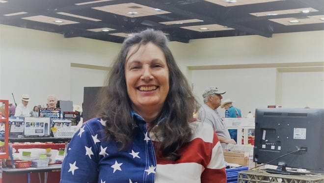 Jackie Powell, coordinator of The All-American Gun & Western Collectible Show at the Ruidoso Convention Center Saturday and Sunday.