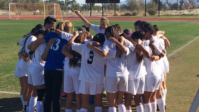 St. Genevieve High School defeated the Shadow Hills Knights 1-0 Thursday, Feb. 25, 2016.