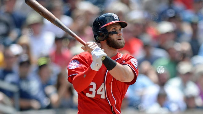 Nationals outfielder Bryce Harper led the National League in votes.