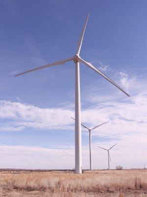Wind turbines dot the landscape in Pratt and many surrounding counties. [