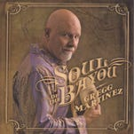 """Singer Gregg Martinez is shown on the cover of his new CD, """"Soul of the Bayou,"""" on Louisiana Red Hot Records."""