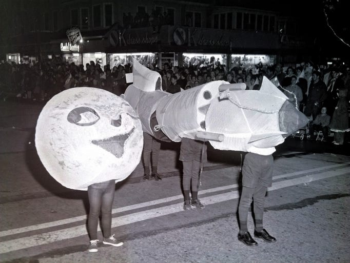 Vineland Halloween parade. 10/28/58.