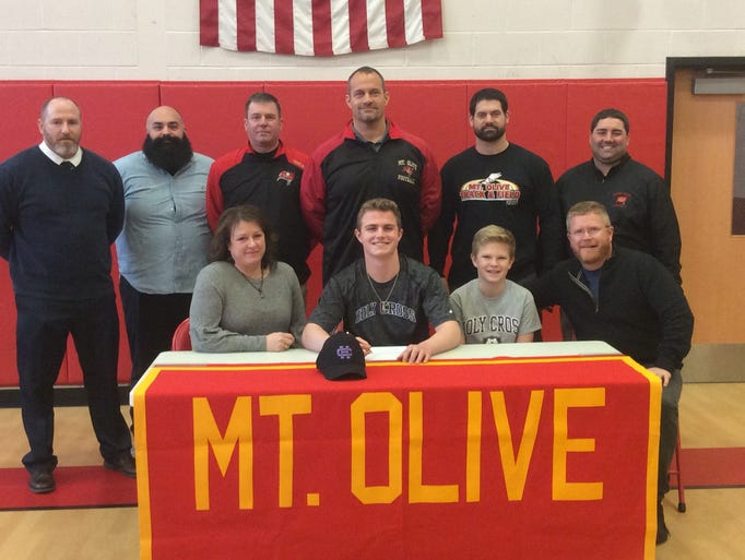 Mount Olive quarterback-safety Liam Anderson signed