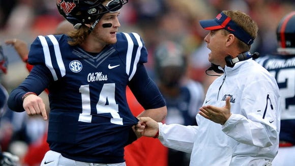 Ole Miss quarterback Bo Wallace was not pleased at being selected as the third best quarterback in the SEC.