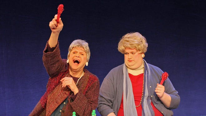 """Chris Nickerson, left, as Sis and Jason Sofge as Babe star in """"The Queen of Bingo"""" at CRT Downtown."""