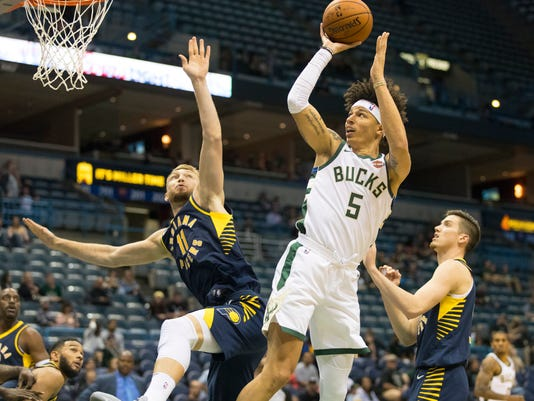 NBA: Preseason-Indiana Pacers at Milwaukee Bucks