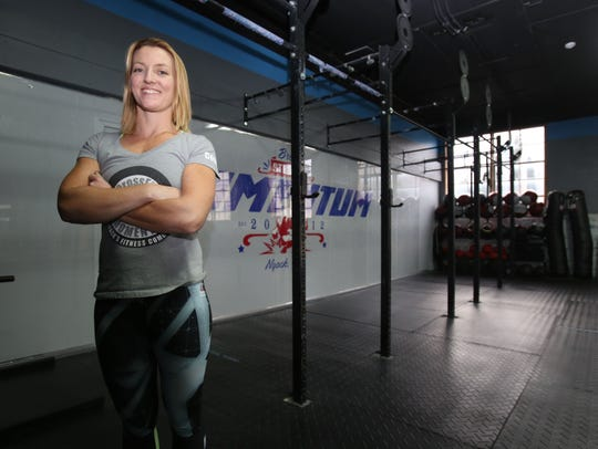 Stephanie Vaughn, owner of CrossFit Momentum is photographed