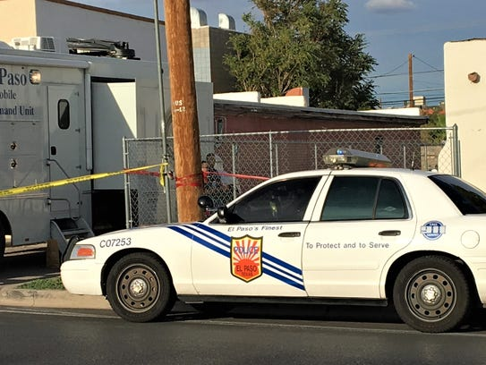 El Paso police investigate an assault Tuesday at a