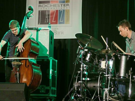 GoGo Penguin bassist Nick Blacka and drummer Rob Turner
