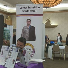 More than 1,500 people showed up at a job fair held by jobertising.com in Phoenix Monday, resumes in hand, looking for work.