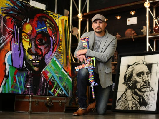 Des Moines artist and former Army Sargeant First Class