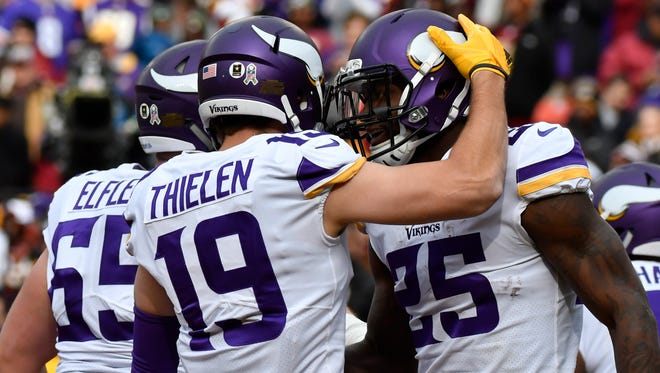 The Vikings' Adam Thielen ranks seventh in targets and 10th in fantasy points among wide receivers.