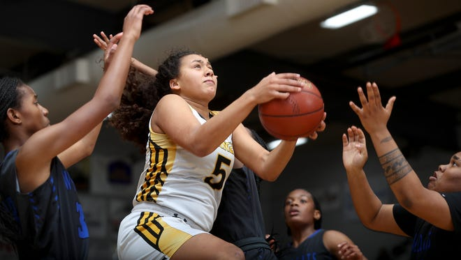 Enterprise junior Jadyn Matthews averaged a double-double this past season and earned a spot on the all-Northern Section First Team.