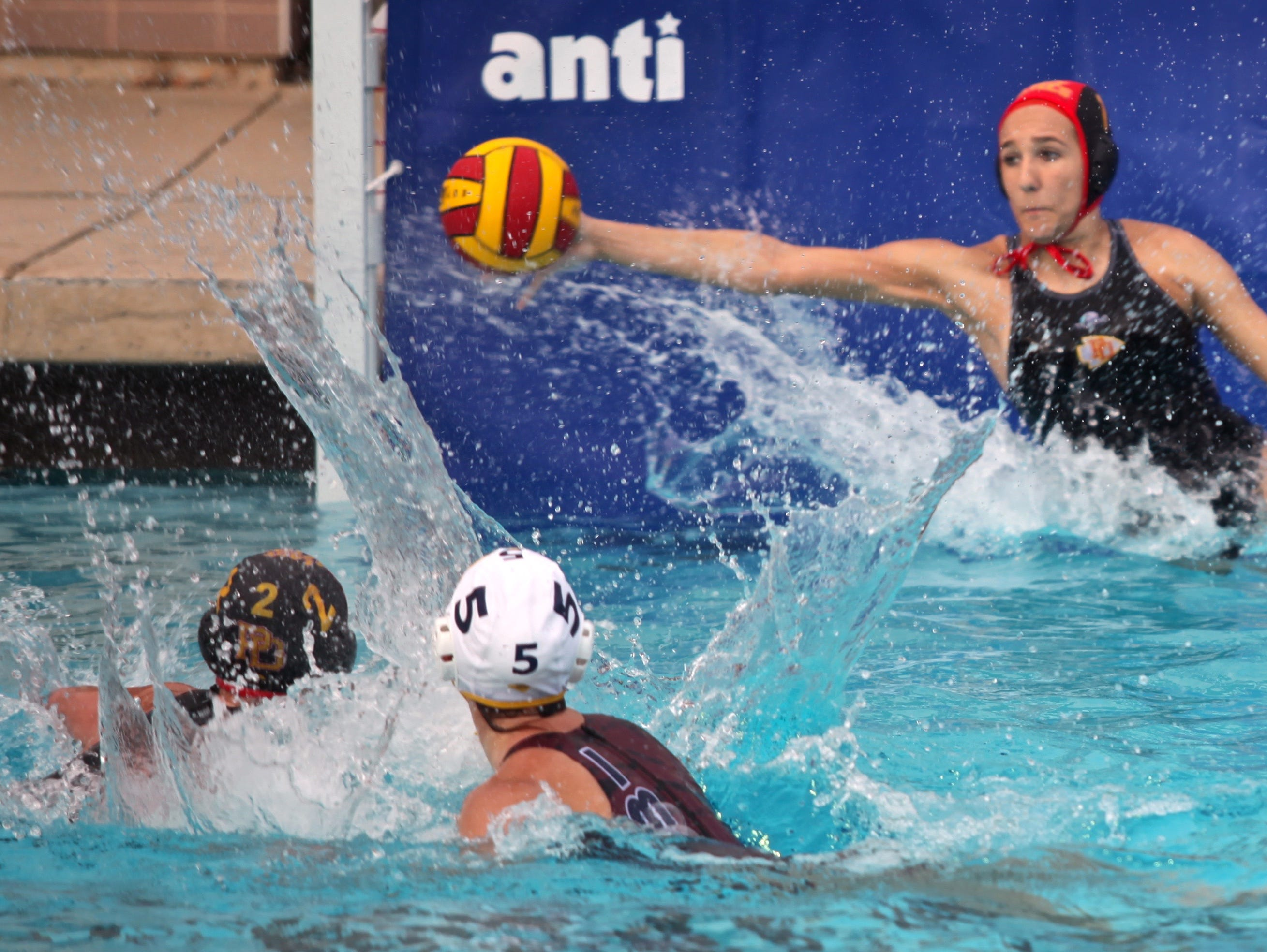 The La Quinta Blackhawks hosted the Palm Desert Aztecs for a water polo match on Monday.