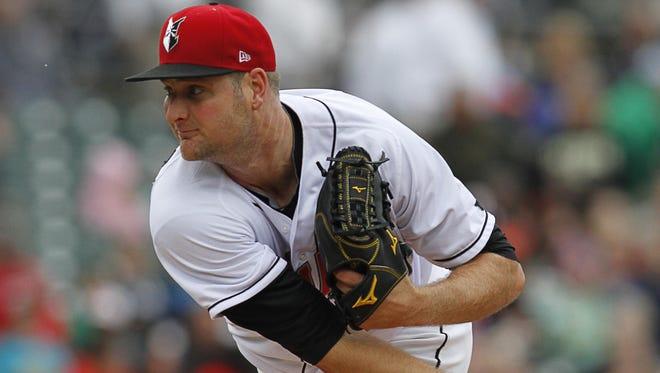 Indianapolis Indians pitcher Chris Volstad.