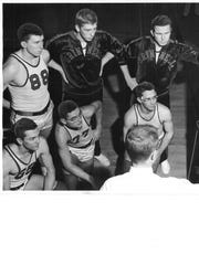 Grinnell College's players pose for a photo in 1950.