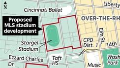 The proposed West End site of the FC Cincinnati soccer-specific