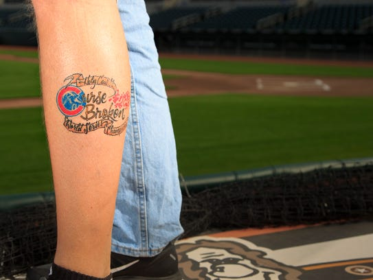 A lifetime of waiting die hard cubs fans in iowa tell for World series tattoo