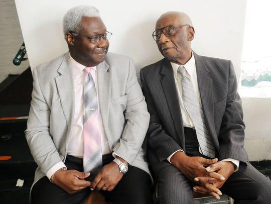 U.S. District Judge Carl Stewart and his father, Richard
