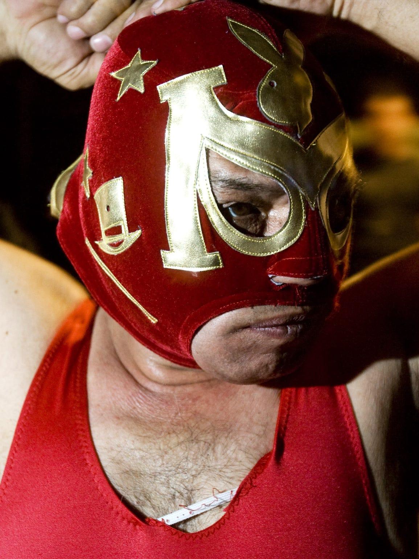 """José Luis """"N"""", conocido en la lucha libre de Phoenix"""