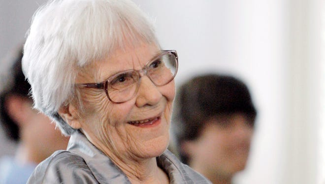 "FILE - In this Aug. 20, 2007 file photo, ""To Kill A Mockingbird"" author Harper Lee smiles during a ceremony honoring the four new members of the Alabama Academy of Honor, at the state Capitol in Montgomery, Ala. The ascendance of Tonja Carter, who worked in Lee's older sister Alice Lee's law office before going to the University of Alabama law school, graduating in 2006 and becoming her partner, brought more aggressive legal tactics on Harper Lee's behalf. (AP Photo/Rob Carr, File)"